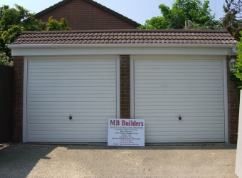 Garage build by MB Builders, Gosport, Hampshire
