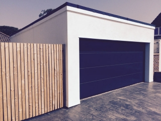 Double garage construction by MB Builders, Gosport, Hampshire