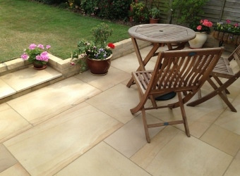 New patio laid by MB Builders, Gosport, Hampshire