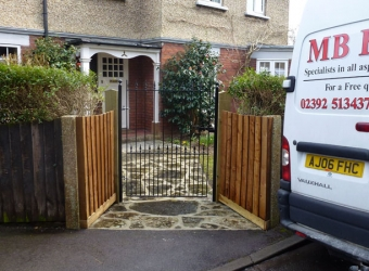 New front entrance gate and path by MB Builders, Gosport, Hampshire
