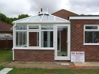 Conservatory build by MB Builders, Gosport, Hampshire