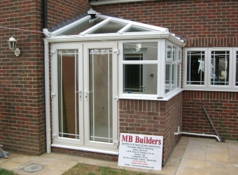 Small conservatory build by MB Builders, Gosport, Hampshire