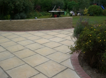 Addition of rear patio by MB Builders, Gosport, Hampshire