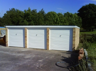Construction of garage block by MB Builders, Gosport, Hampshire