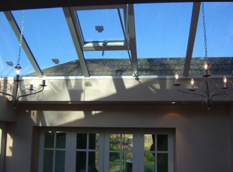 Glass roof house extension by MB Builders, Gosport, Hampshire