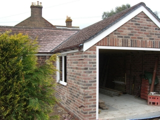 Garage construction by MB Builders, Gosport, Hampshire